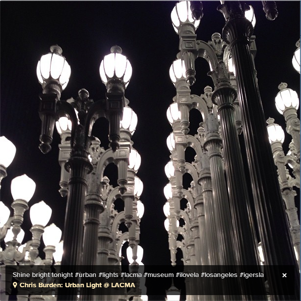 Chris Burden's Urban Light Sculpture LACMA