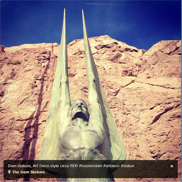 Hoover Dam Art Deco Statues | Nevada Photography | Squiggles Designs