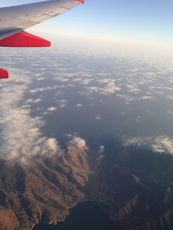 Two harbors Catalina Island aerial photo